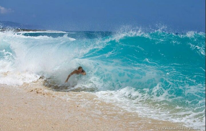 Body Surfing Sandys Beach Oahu Hawaii