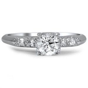 Platinum The Jada Ring, top view