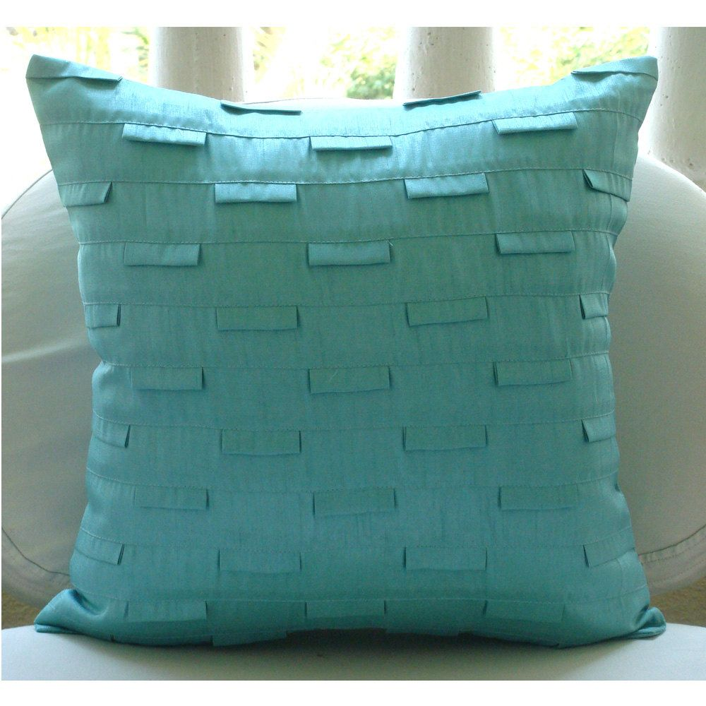 Blue ocean throw pillow covers x inches silk pillow cover in