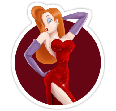 Jessica Rabbit Sticker By Fabio Martins Jessica Rabbit Jessica Rabbit Cartoon Roger Rabbit