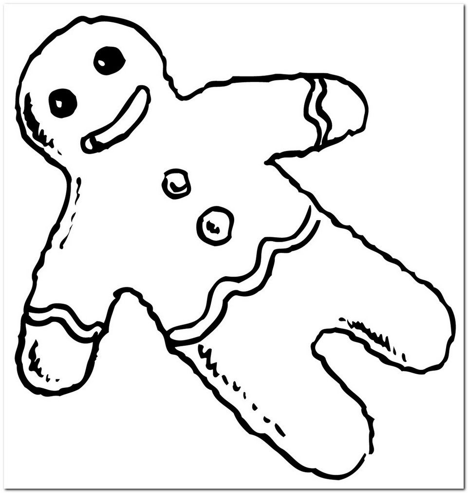 coloring page gingerbread man hd | Coloring Board | Pinterest ...