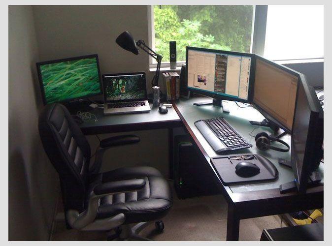 Setup Inspiration DIY Computer Desk Video game rooms