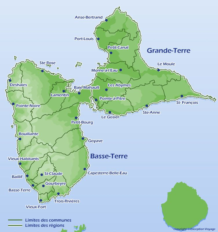 Carte de Guadeloupe | Iles | Pinterest | Caribbean, West indies