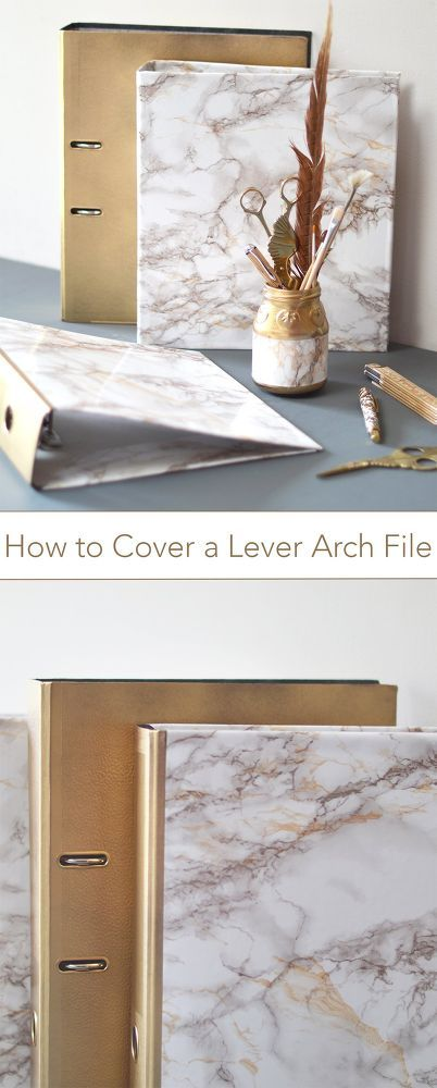 How To Cover A Lever Arch File Lever Arch Files Sticky Back Plastic Diy Marble