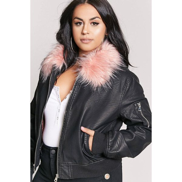 fc4cb35f769 Forever21 Plus Size Faux Fur Bomber Jacket ( 38) ❤ liked on Polyvore  featuring plus size women s fashion