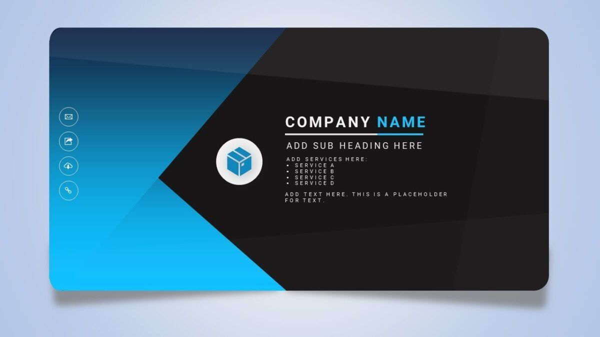 How To Design A Creative Business Or Name Card In Microsoft Office Powerpoint Ppt Regarding Busine Name Card Design Business Card Template Word Creative Names