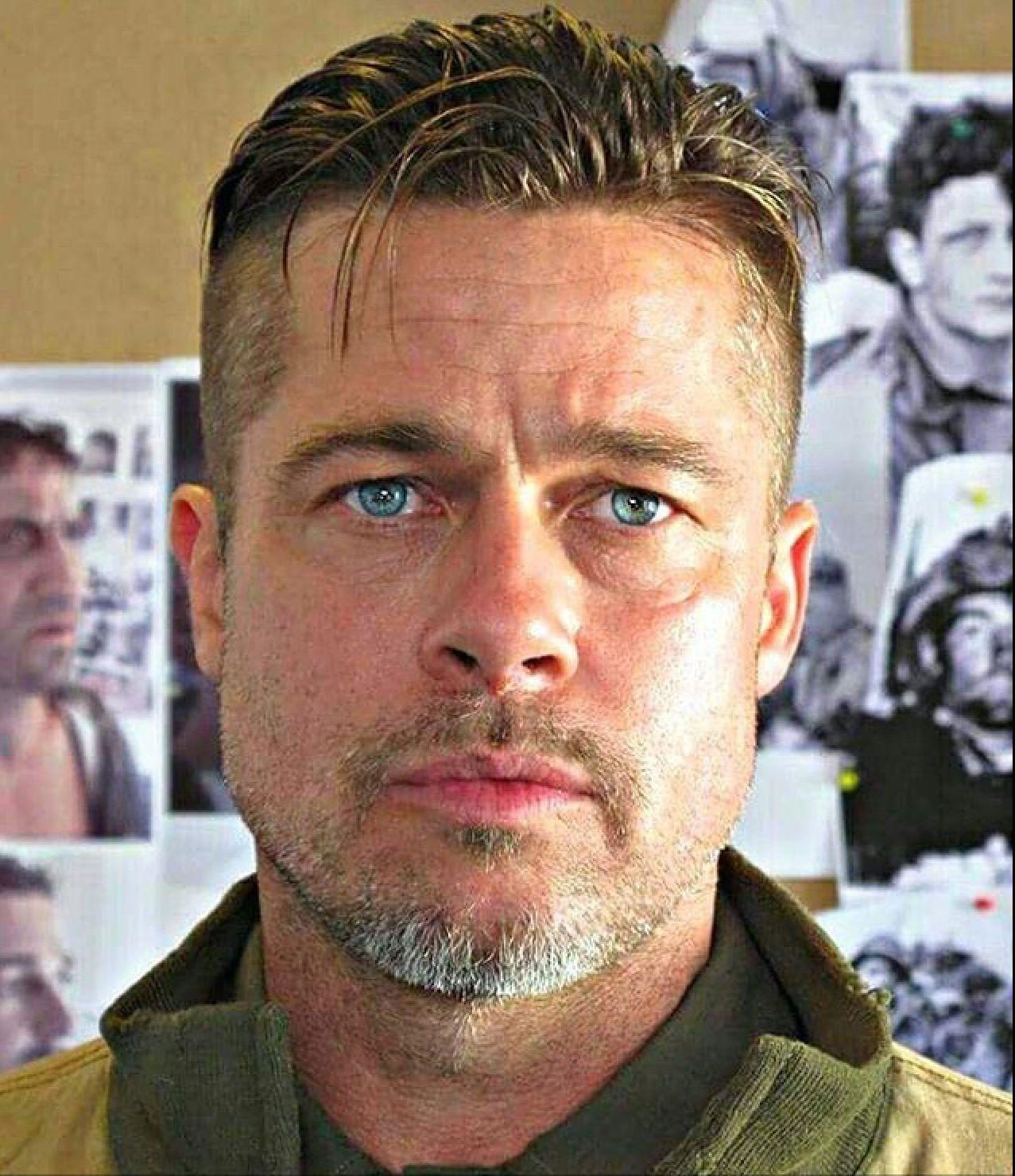 Pin By Ginger Sloan On Brad Pitt Brad Pitt Fury Haircut Fury Haircut Brad Pitt Haircut