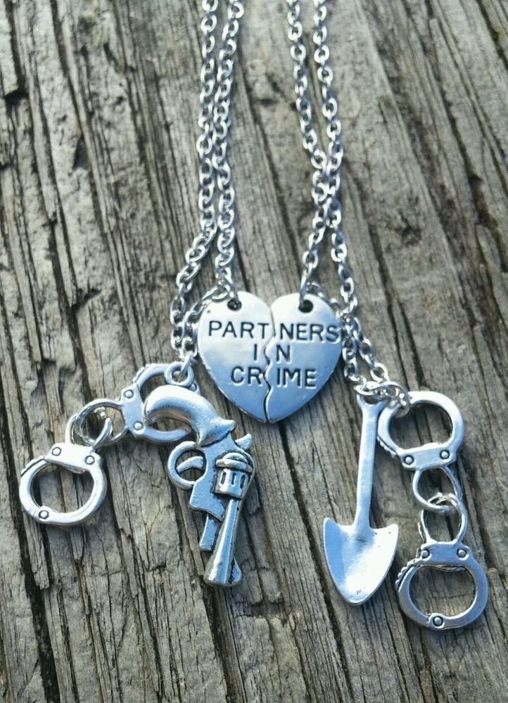 Hot! 2pcs Partners in Crime Friendship Necklace Set Best ...