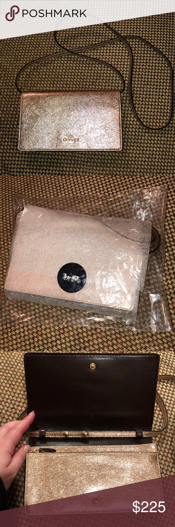 48368c856ed6 Brand New Coach Hayden Foldover Clutch-Rose Gold ✨Brand New in Package✨  Coach