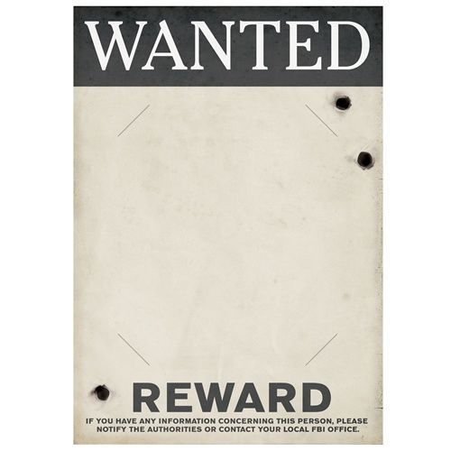 GANGSTER Roaring 20s 1920s WANTED POSTER PHOTO HOLDER Party Prop - most wanted poster templates