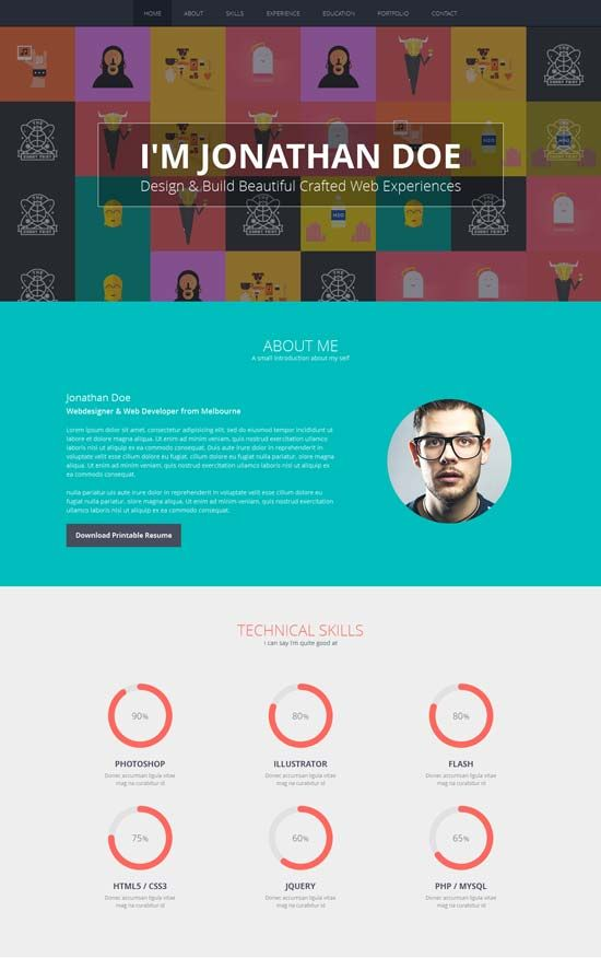 Flato - Responsive Resume, Personal Portfolio Temp | Business is ...