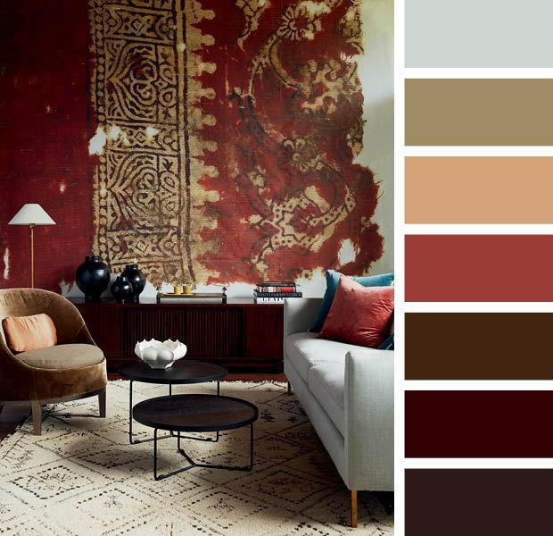 15 Designer Color Combinations To Help You Find Your Perfect Palette Color Palette Living Room Brown Living Room Decor Warm Living Room Colors