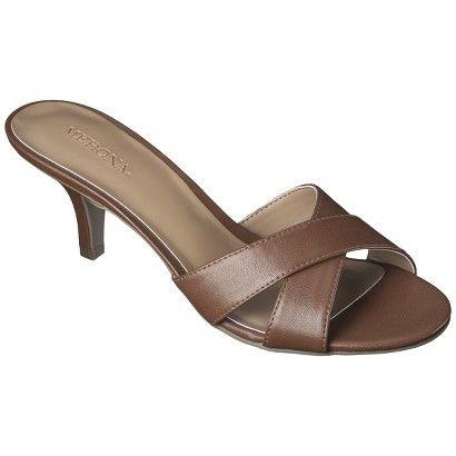 Women S Merona Oessa Kitten Heel Slide Sandal Assorted Colors Heels Kitten Heel Sandals Wedding Shoes Low Heel