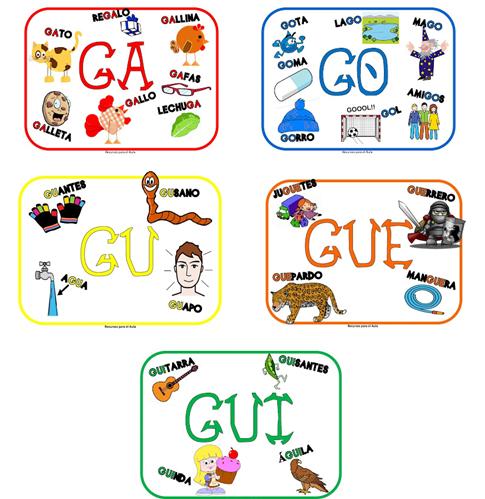 En Un Segundo Continuamos Ga Go Gu Gue Gui Güe Güi Palabras Con G Palabras Con Gue Gui Actividades De Letras