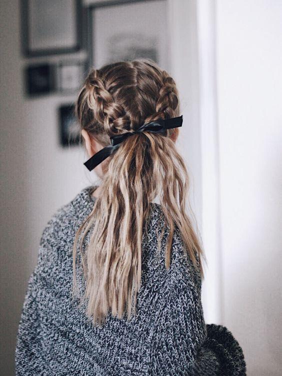Schöne Frisur für unterschiedlich langes Haar #cabelos