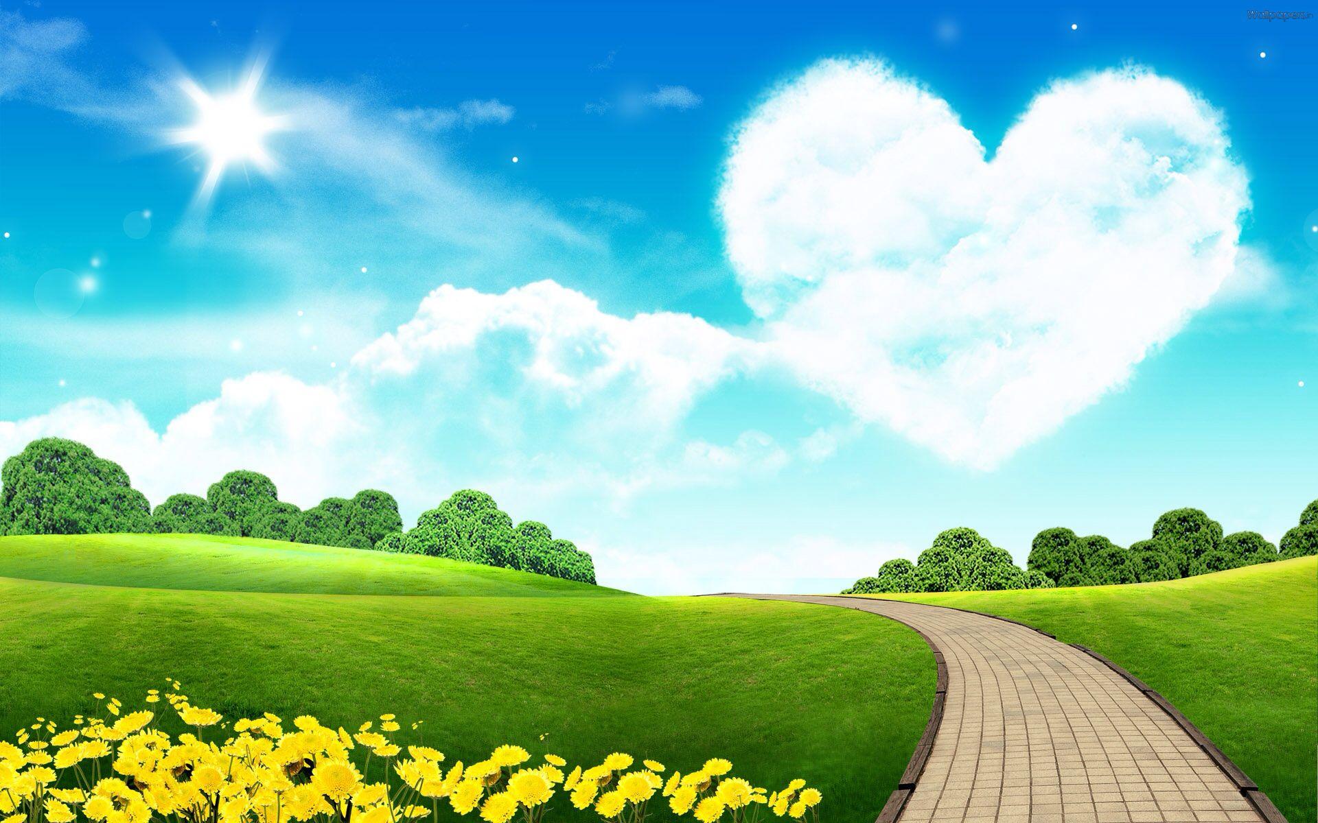Heart Sky Take Me Away Scenery Wallpaper Summer Landscape