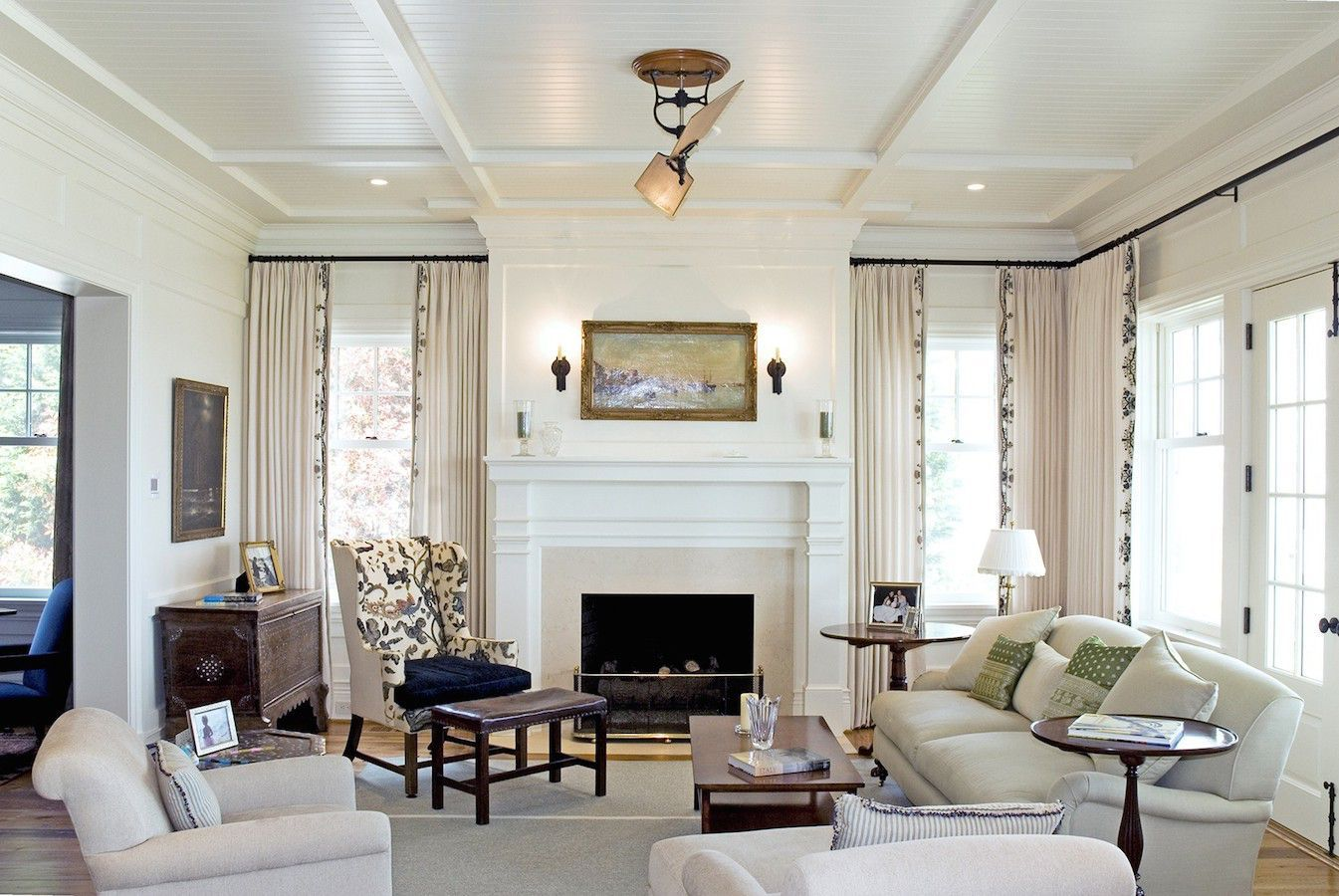 Chesapeake House: Living room. The interior first floor walls are ...