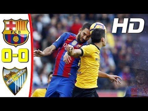 Barcelona vs Malaga 0 0 Highlights La Liga 19 Nov 2016 HD