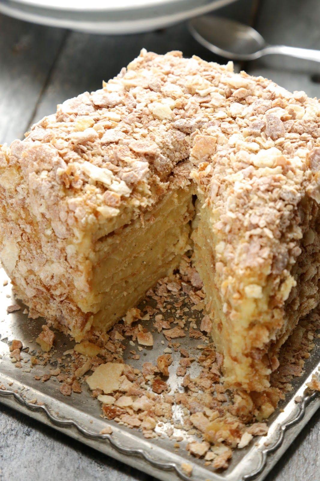 Napoleon g teau russe feuillet la cr me mousseline vanille app tissants desserts - Recette creme dessert vanille ...