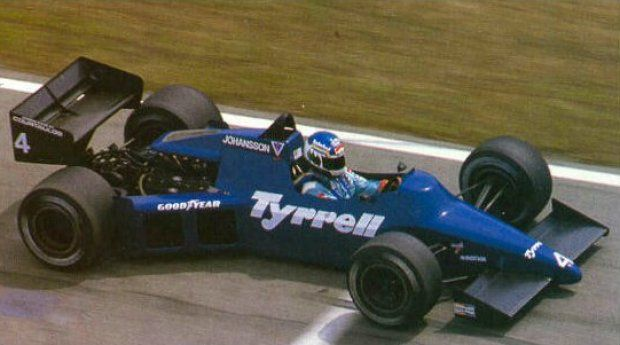 Stefan Johansson Driving The Tyrrell 012 Ford V 8 1985 Formel 1