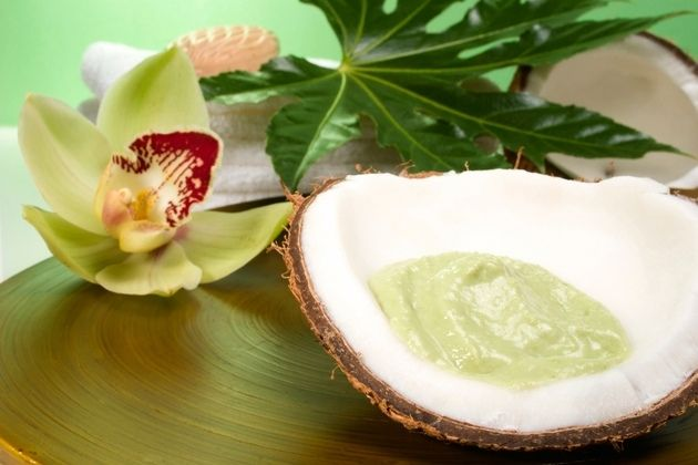 Der Kokosöl wird in vielen Kombinationen benutzt