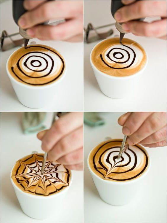 делать рисунок на кофе как нарышкиных стал самым