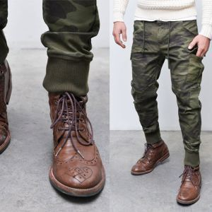 joggers and dress shoes