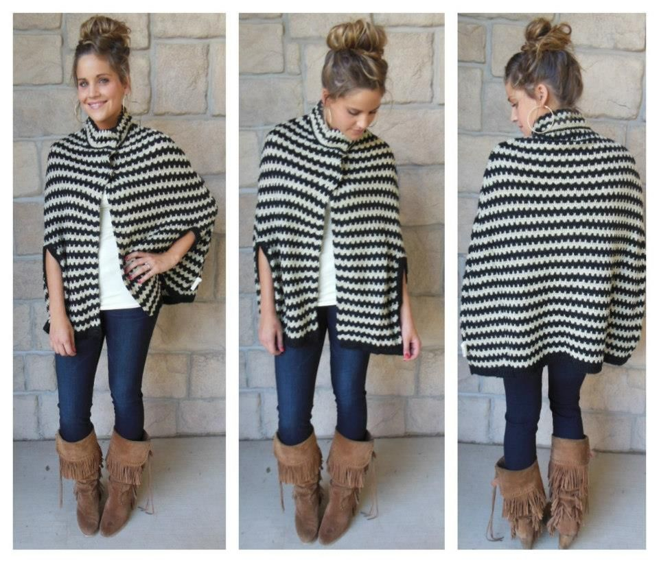 Such an adorable poncho we received today! Get it now on facebook!