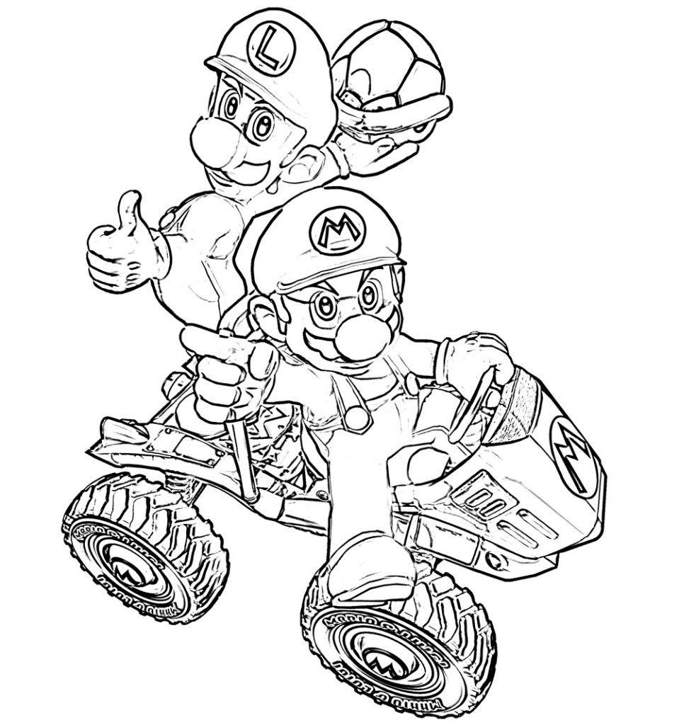 Mario Kart Coloring Pages | Mario kart and Characters
