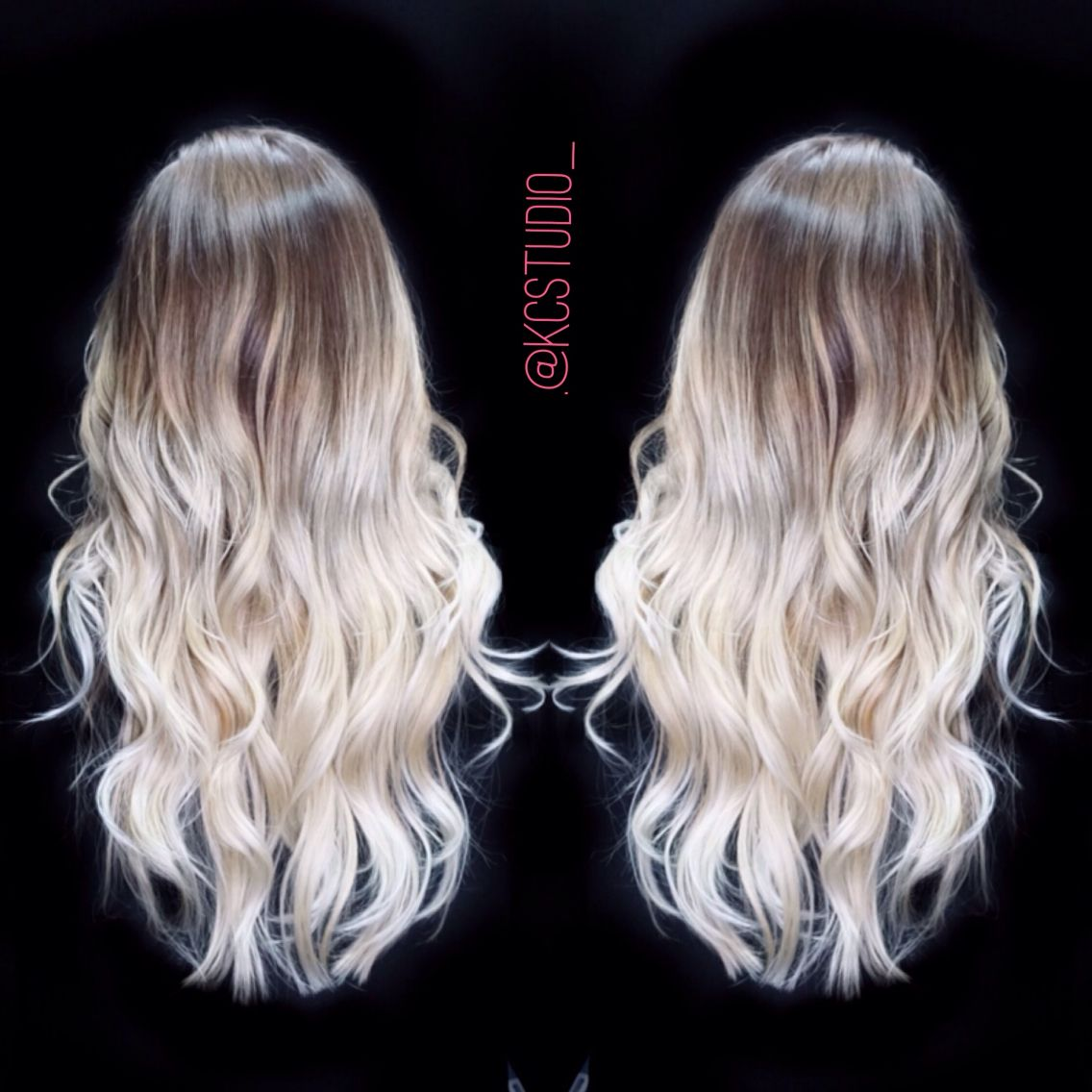 icy blonde ombre hair color kc studio hair pinterest. Black Bedroom Furniture Sets. Home Design Ideas