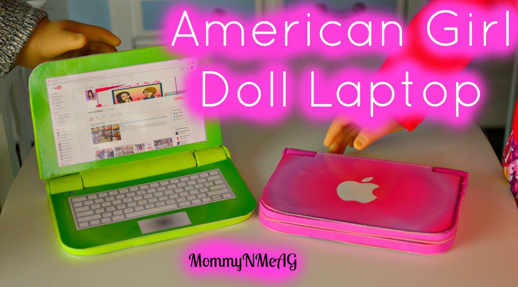 DIY American Girl Doll Laptop | Mini Apple Macbook Air #americangirlhouse