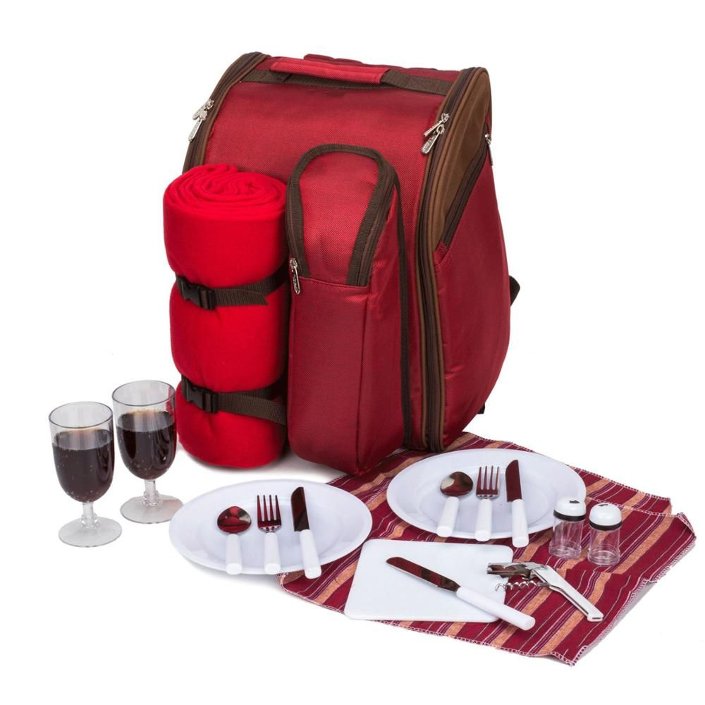 2 Person Picnic Backpack With Cooler Compartment Includes Tableware Blanket Lunch Bag View Fitness Cooler Lunch Bag Customized Product Details From Quanzhou Cooler Lunch Bag Picnic Bag Picnic Backpack