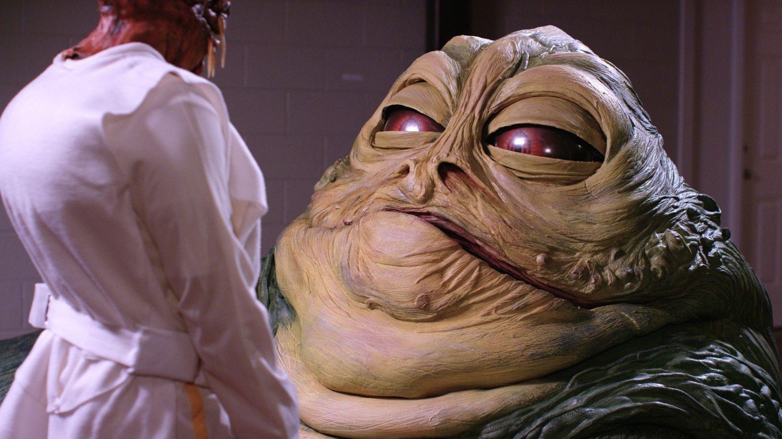Jabba the Hutt Life Size Star Wars Replica Puppet ROTJ ... Jabba The Hutt Costume Commercial