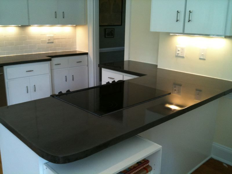 Black Concrete Countertop With Images Kitchen Design Diy