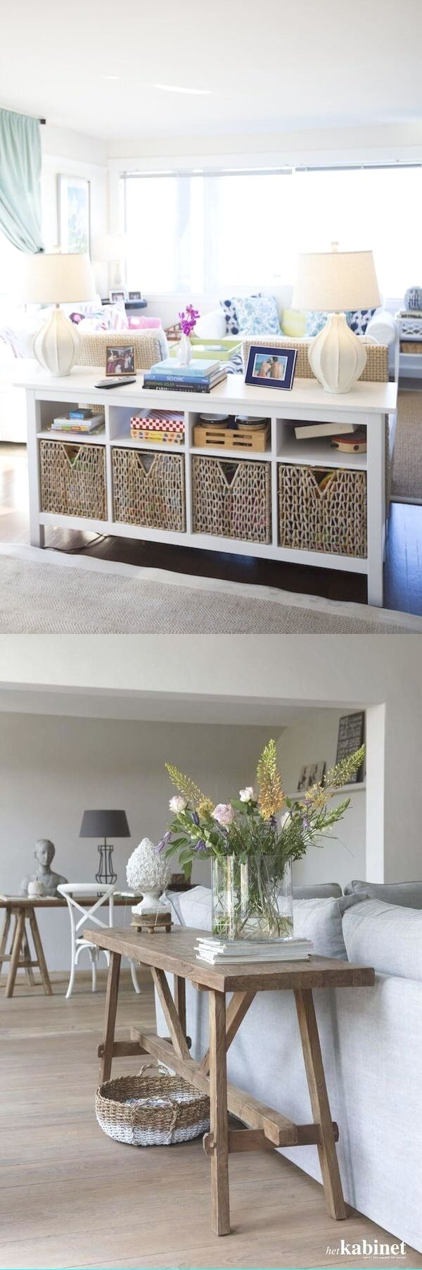 Cool Console Table Behind Couch Decor. Window Recortadas24