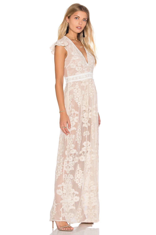 For Love Lemons X Revolve Violetta Dress In Nude Ivory Revolve