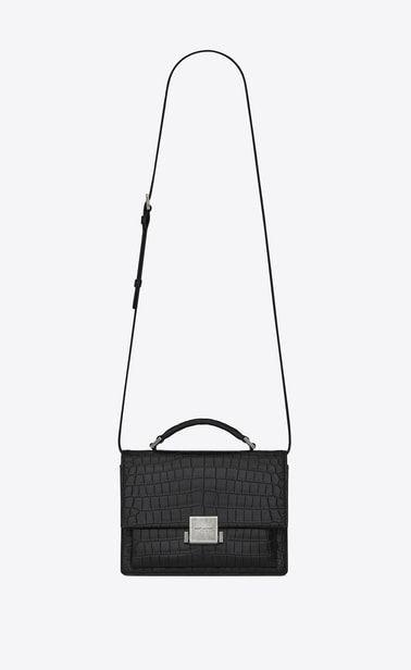 3e0e4f621 SAINT LAURENT Bellechasse Woman Medium BELLECHASSE SAINT LAURENT bag in  crocodile-embossed matte black leather a_V4