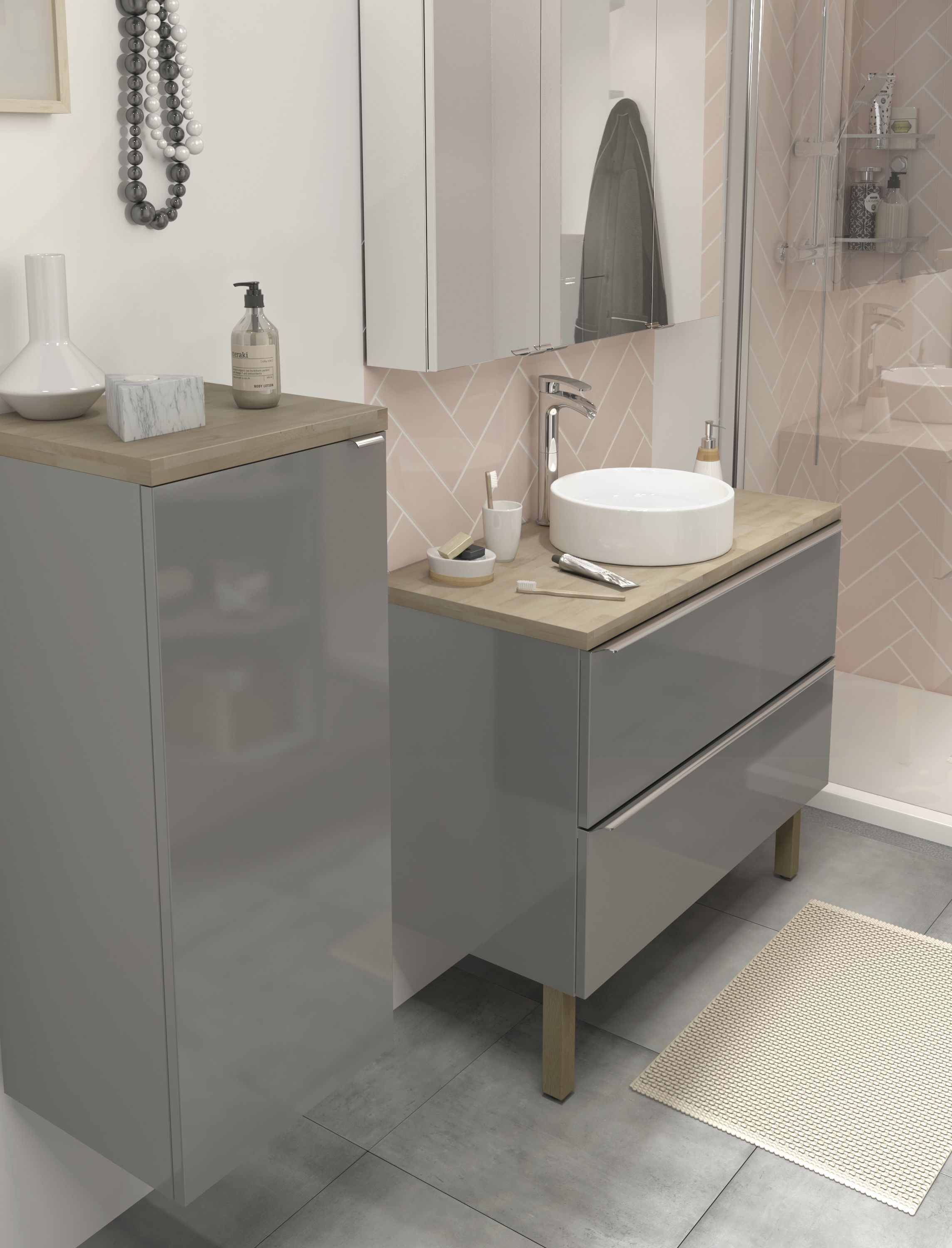 When Modern Meets Rustic The Imandra Bathroom Collection From B Q