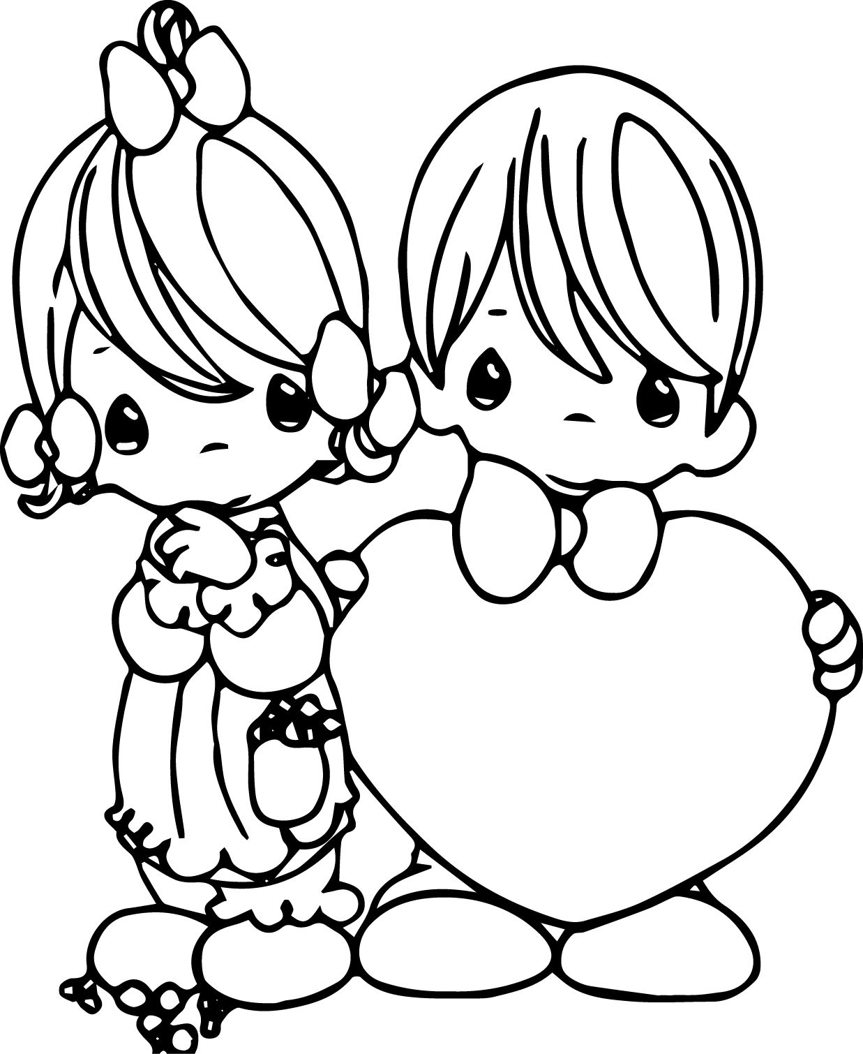 precious moments valentine coloring pages - photo#17