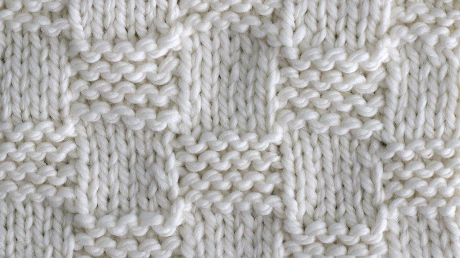 How to Knit the Garter Checkerboard Stitch with Studio Knit ...