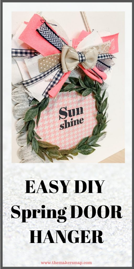 Fun And Easy Diy Spring Door Hanger Creative How To Spring Diy Spring Diy Projects Easy Diy