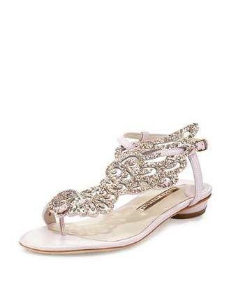 Sophia Webster Seraphina Angel-Wing Flat Sandal, Pink Glitter