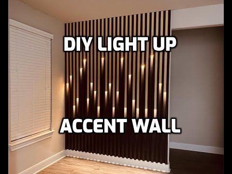 DIY Accent Wall with Lights | Quarantine Project | Feature Wall - YouTube