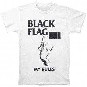 Black Flag My Rules T Shirt Black Flag B Artists Groups Shirts T Shirt Black Flag