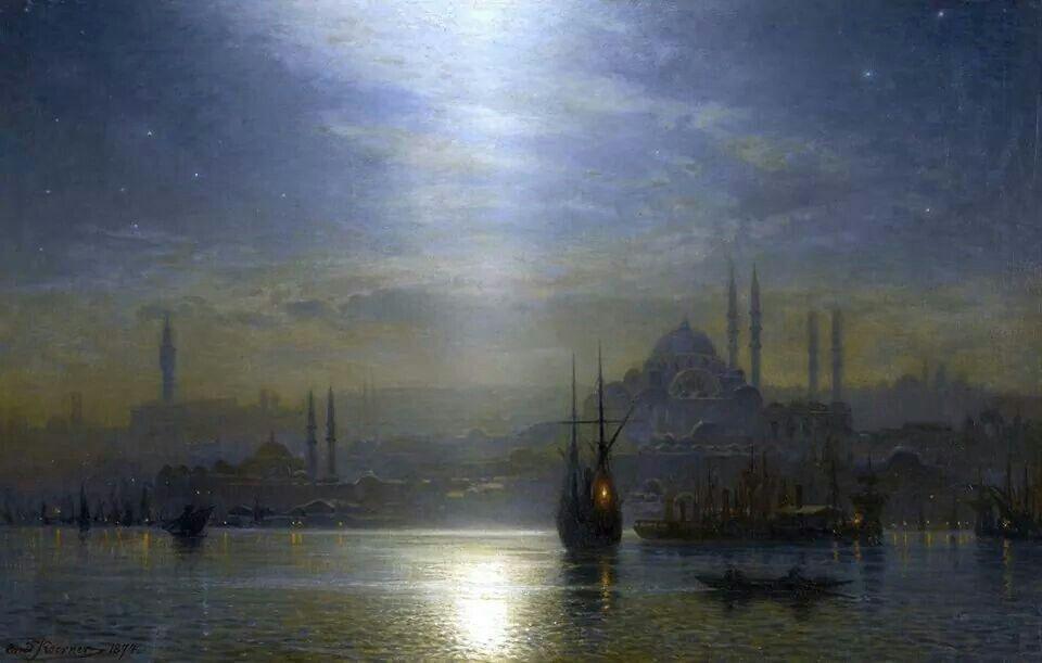 Koerner - Night view over the Bosphorus