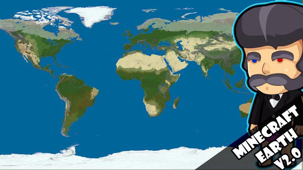 The earth in Minecraft [ version 2.0 ] [ terrain ] [ 1:1500 ...