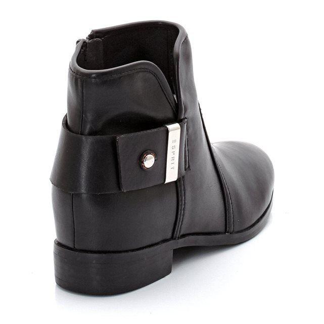 Boots Celia Bootie, cuir vachette ESPRIT