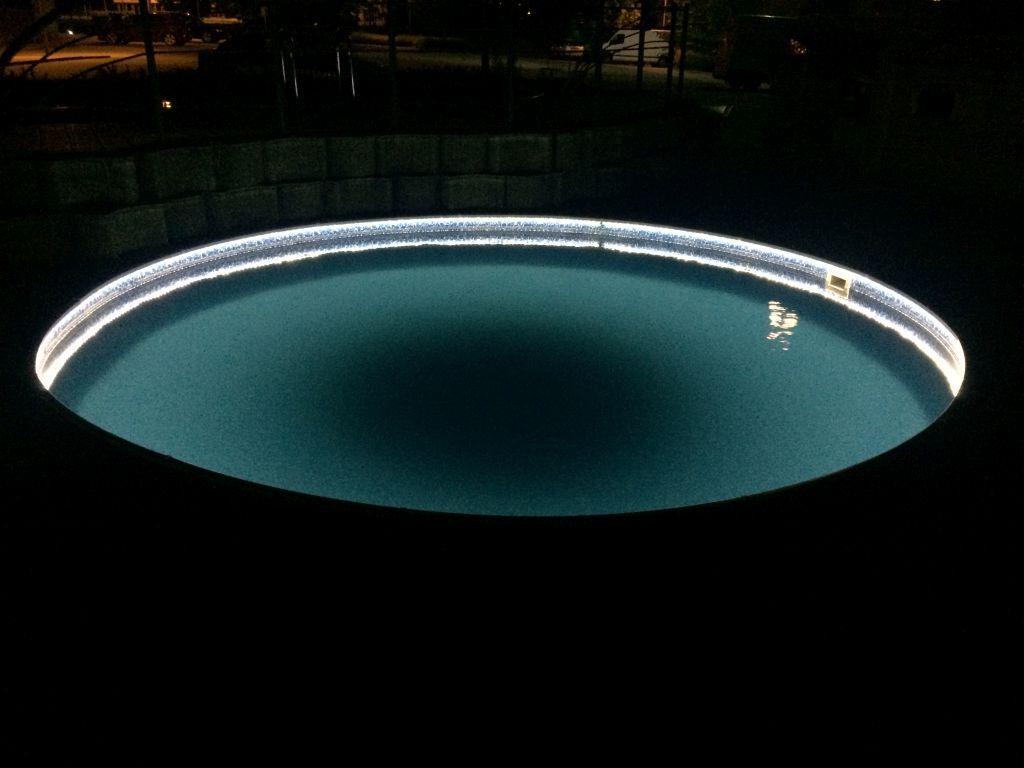 Handlauf Mit Led Beleuchtung Im Set Fur Rundpool O 3 60 M Mit Bildern Unterwasserbeleuchtung Led Beleuchtung Poolbeleuchtung Led