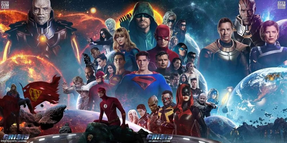 Crisis On Infinite Earths Poster Earth Poster Flash Characters