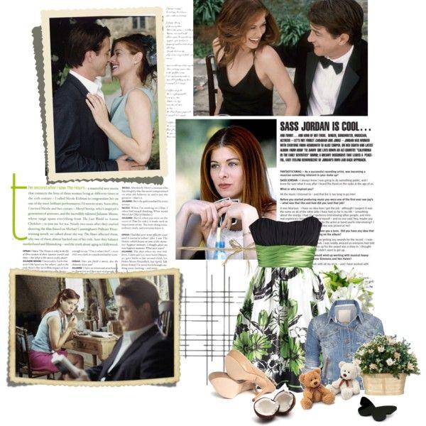 """""""19/50 Debra Messing in The Wedding Date"""" by deborahmaydelgado on Polyvore"""